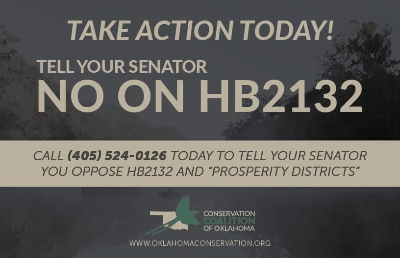 "Take Action against Oklahoma HB2132 and the creation of ""prosperity districts"""